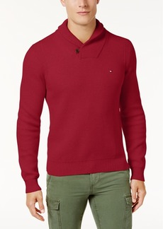 Tommy Hilfiger Men's Waffle Knit Shawl-Collar Sweater, Created for Macy's