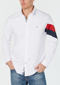 Tommy Hilfiger Men's Welles Custom-Fit Printed Oxford Shirt, Created for Macy's