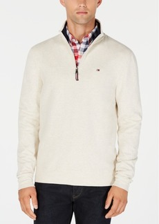 Tommy Hilfiger Men's Winston Quarter Zip Knit Pullover, Created for Macy's