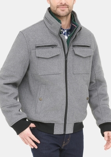 Tommy Hilfiger Men's Wool Blend Bomber Jacket, Created for Macy's
