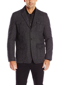 Tommy Hilfiger Men's Wool Fancy Blazer with Nylon Bib  XL