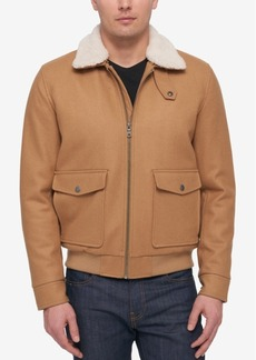 Tommy Hilfiger Men's Wool Jacket With Removable Fleece Collar