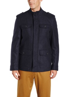 Tommy Hilfiger Men's Wool Melton 4 Pocket Military Jacket