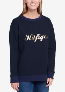 Tommy Hilfiger Metallic-Print Logo Sweatshirt, Created for Macy's