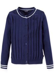 Tommy Hilfiger Mini-Cable Knit Cardigan, Big Girls