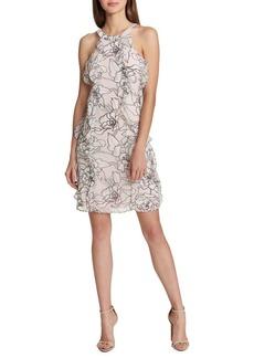 Tommy Hilfiger Mini Lily Pad Chiffon Trapeze Dress