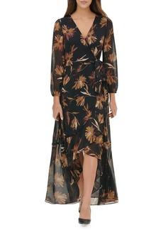 Tommy Hilfiger Miranda Floral Chiffon High-Low Maxi Dress