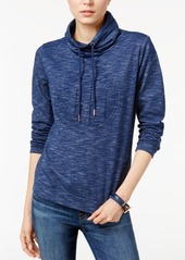 Tommy Hilfiger Mock-Neck Space-Dyed Sweatshirt, Only at Macy's