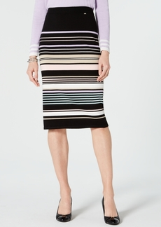 Tommy Hilfiger Multi-Color Striped Pull-On Skirt, Created for Macy's