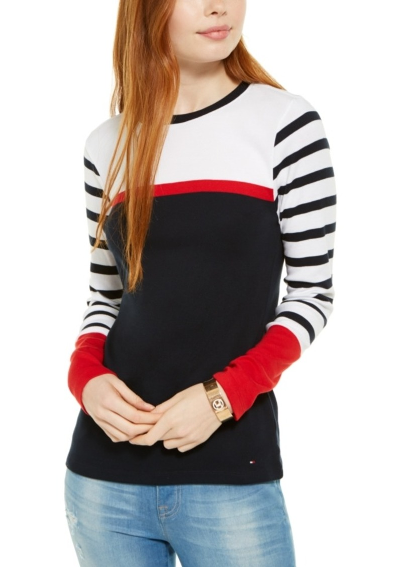 Tommy Hilfiger Multi-Stripe Cotton Top, Created For Macy's