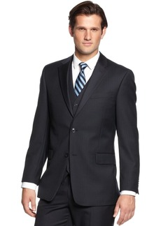 Tommy Hilfiger Navy Tonal Stripe Classic-Fit Jacket