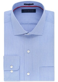 Tommy Hilfiger Non-Iron Blue Fineline Stripe Dress Shirt