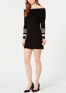 Tommy Hilfiger Off-The-Shoulder Mini Sweater Dress, Created for Macy's