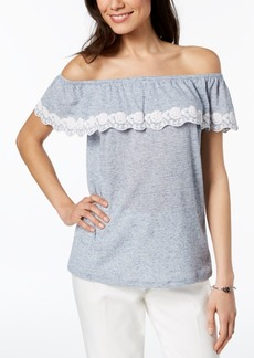 Tommy Hilfiger Off-The-Shoulder Top, Created for Macy's