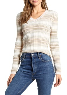 Tommy Hilfiger Ombré Stripe Ribbed Cotton Sweater