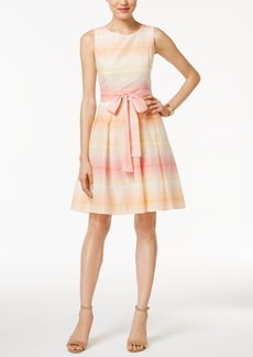Tommy Hilfiger Ombre-Stripe Fit & Flare Dress