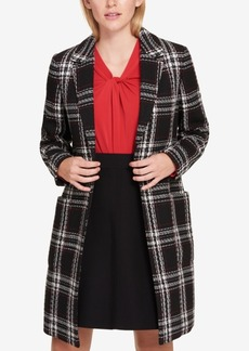 Tommy Hilfiger Open-Front Plaid Coat, Created for Macy's