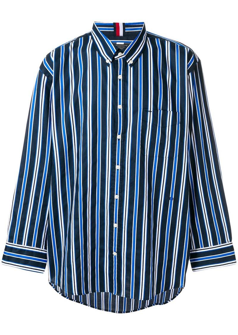 Tommy Hilfiger Tommy Hilfiger Oversized Shirt Blue Casual Shirts