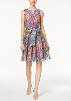 Tommy Hilfiger Paisley-Print Fit & Flare Dress