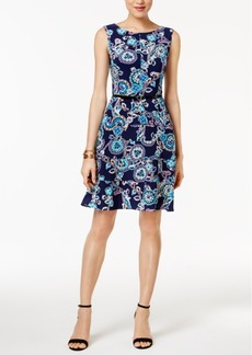 Tommy Hilfiger Paisley-Print A Line Dress
