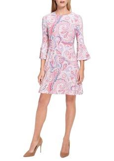 Tommy Hilfiger Paisley-Print Bell-Sleeve A-Line Dress