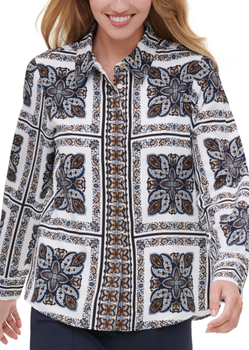Tommy Hilfiger Paisley Tile Button-Up Shirt