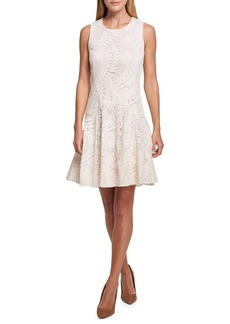 Tommy Hilfiger Palm Spring Lace Fit-and-Flare Dress