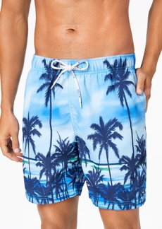 "Tommy Hilfiger Palm Tree 6-1/2"" Swim Trunks, Created for Macy's"