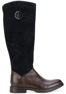 Tommy Hilfiger panelled knee boots - Blue