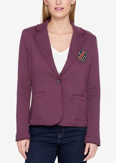 Tommy Hilfiger Patched One-Button Blazer, Created for Macy's
