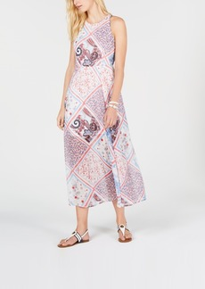 Tommy Hilfiger Patchwork-Print Halter Dress, Created for Macy's