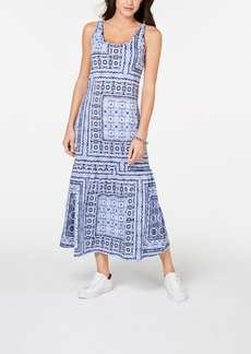 Tommy Hilfiger Patchwork-Print Maxi Dress, Created for Macy's