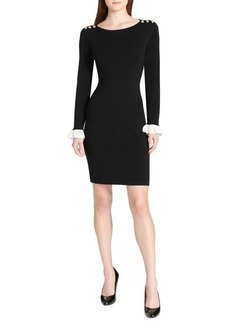 Tommy Hilfiger Peplum-Sleeve Sweater Dress