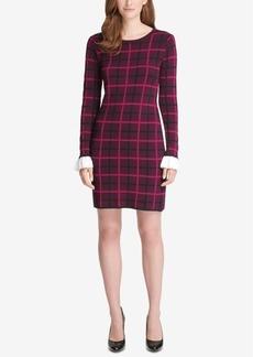 Tommy Hilfiger Peplum-Sleeve Sweater Dress