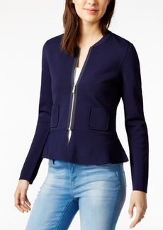 Tommy Hilfiger Peplum Sweater Jacket, Only at Macy's