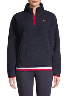 Tommy Hilfiger Performance Faux-Shearling Mockneck Sweatshirt