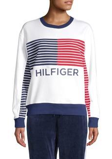 Tommy Hilfiger Performance Flag Print Fleece Sweatshirt