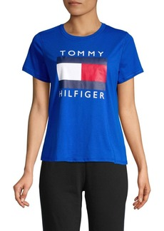 Tommy Hilfiger Performance Logo Cotton Blend Tee