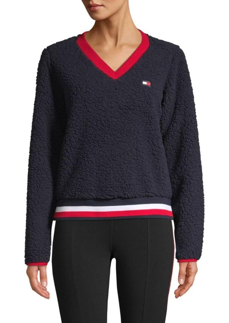 Tommy Hilfiger Performance Logo Faux Fur Sweatshirt
