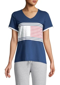 Tommy Hilfiger Performance Striped Flag Tee