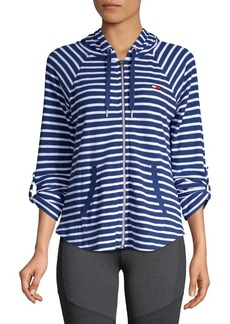 Tommy Hilfiger Performance Striped High-Low Hoodie