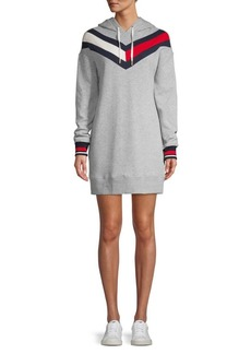 Tommy Hilfiger Performance Striped Hoodie Dress