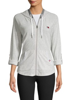 Tommy Hilfiger Performance Waffle Zip-Front Hoodie
