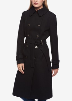 Tommy Hilfiger Petite Double-Breasted Midi Trenchcoat