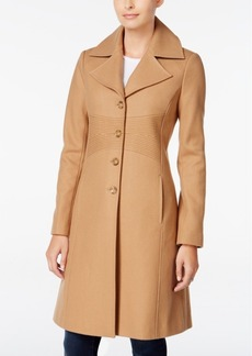 Tommy Hilfiger Petite Topstitched Walker Coat