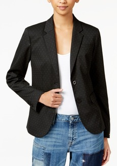 Tommy Hilfiger Pick-Stitched Double-Button Blazer, Only at Macy's
