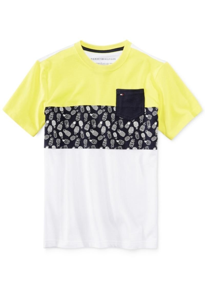 dbbc3472a Tommy Hilfiger Tommy Hilfiger Pineapple Pocket Cotton T-Shirt, Big ...