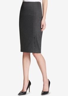 Tommy Hilfiger Pinstriped Pencil Skirt