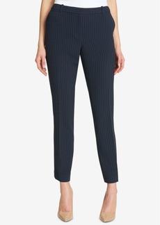 Tommy Hilfiger Pinstriped Slim-Leg Pants