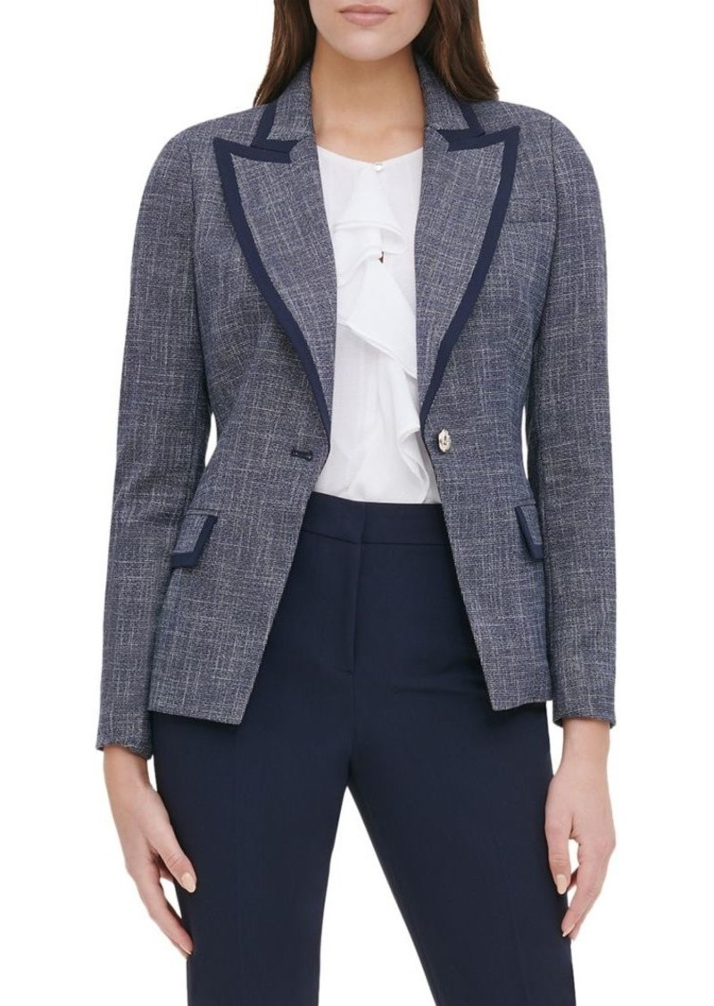 Tommy Hilfiger Piped Button-Front Jacket